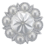 BS9184-SP Berry Concho Polished Silver 10pcs