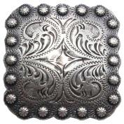 BS9291-1-SRTP 2.5cm Berry Square Concho Antique Silver