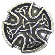 "BS9977 SRTP 1"" (25mm) Antique Silver Celtic Concho"