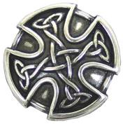 """BS9977 SRTP 1"""" (25mm) Antique Silver Celtic Concho"""