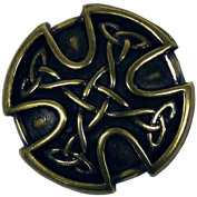 "BS9977 SRTP 1"" (25mm) Antique Brass Celtic Concho"
