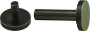 Flat Screw Post Solid Brass 10pk