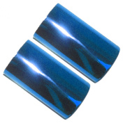 Set of 2 Hot Foil Stamp Rolls 120m 2 Rolls 60m Each Brilliant Blue