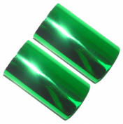Set of 2 Hot Foil Stamp Rolls 120m 2 Rolls 60m Each Brilliant Green
