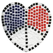 Diamond Tech Stepping Stone Kit, Patriotic Heart
