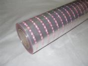 20m x 80cm Roll Pink Dot Cellophane Wrap. Florist Quality / Bouquet / Gift / ...