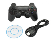 Ventisonic® Wired USB Game Controller for PC or SONY PlayStation 3 (PS3) Black
