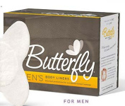 Butterfly Body Liners Pads Men's Size M/L (28 Count) Anal Leakage