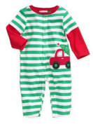 First Impressions Infant Boys Green Striped Tree in Truck Christmas Sleeper