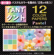 Tant Pastels - 6 in (15 cm) 12 colours - 48 sheets