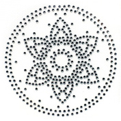 Rhinestone Transfer Hot Fix Motif Fashion Design Jewellery Flower Tattoos Deco B 3 Sheets 3.4*8.6cm