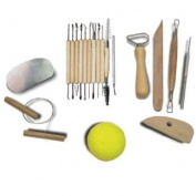 . 11pcs/Set With 8pcs/set Pottery Tool Sets Wood Handle Wax Pottery Clay Sculpture Carving Modelling Tool DIY Craft