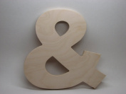 LetterWorx 20cm Wooden & Symbol / Ampersand - Arial Font | Unfinished Baltic Birch Wood Letter | 20cm Tall