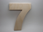 LetterWorx 20cm Wooden Number 7 - Arial Font | Unfinished Baltic Birch Wood Letter | 20cm Tall