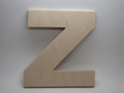 LetterWorx 20cm Wooden Letter Z - Arial Font | Unfinished Baltic Birch Wood | 20cm Tall