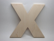 LetterWorx 20cm Wooden Letter X - Arial Font | Unfinished Baltic Birch Wood | 20cm Tall