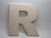 LetterWorx 20cm Wooden Letter R - Arial Font | Unfinished Baltic Birch Wood | 20cm Tall