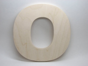 LetterWorx 20cm Wooden Letter O - Arial Font   Unfinished Baltic Birch Wood   20cm Tall