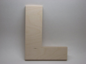 LetterWorx 20cm Wooden Letter L - Arial Font | Unfinished Baltic Birch Wood | 20cm Tall