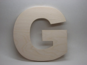 LetterWorx 20cm Wooden Letter G - Arial Font   Unfinished Baltic Birch Wood   20cm Tall