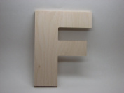 LetterWorx 20cm Wooden Letter F - Arial Font   Unfinished Baltic Birch Wood   20cm Tall