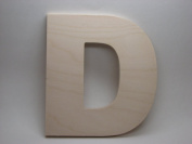 LetterWorx 20cm Wooden Letter D - Arial Font   Unfinished Baltic Birch Wood   20cm Tall