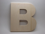 LetterWorx 20cm Wooden Letter B - Arial Font | Unfinished Baltic Birch Wood | 20cm Tall