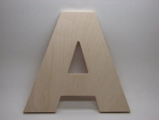 LetterWorx 20cm Wooden Letter A - Arial Font | Unfinished Baltic Birch Wood | 20cm Tall