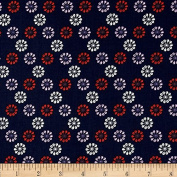 Cotton & Steel Mustang Daisies Navy Fabric