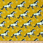 Cotton & Steel Mustang Metallic Gold Fabric