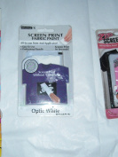 Screen Print Fabric Paint - All-In-One Paint & Applicator - Optic White