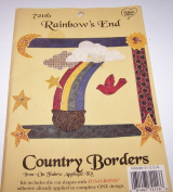 Country Borders Iron On Fabric Applique Kit Rainbows End