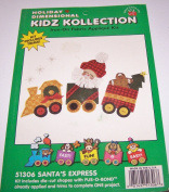 Holiday Dimensional Kidz Kollection Iron On Fabric Applique Kit Santa's Express