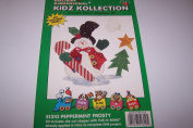Holiday Dimensional Kidz Kollection Iron On Fabric Applique Kit Peppermint Frosty