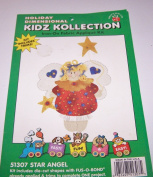 Holiday Dimensional Kidz Kollection Iron On Fabric Applique Kit Star Angel