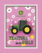 John Deere Tractors are for Girls No Sew Fleece Throw Kit, Pink