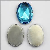 40X30 OVAL Tiffany Settings 12/CNT - 12 Pieces
