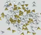 10mm Gold Triangle Hotfix Nailheads - 100 Pieces