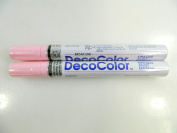 Two (2) Deco Colour Marvy Uchida Broad Line Opaque Paint Marker