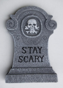 Halloween 15cm Glitter Accented Grey Tombstone