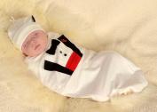 Cosy Cocoon® Tuxedo Baby, White, Baby