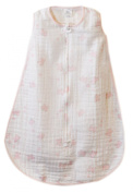 SwaddleDesigns zzZipMe Sack with 2-Way Zipper, Muslin Wearable Blanket, Butterflies in Pink 6-12 Months