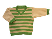 100% merino wool baby infant knitted sweater striped