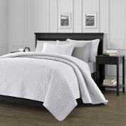 Chezmoi Collection Austin 3-piece Oversized (300cm x 270cm ) Bedspread Coverlet Set King, White