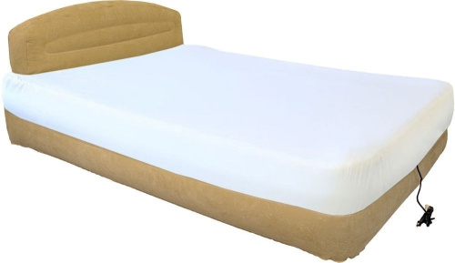 airtek patfcrhb01 fabric cover for queen air bed with headboard best price ebay. Black Bedroom Furniture Sets. Home Design Ideas