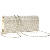 New gloden CRYSTAL DIAMANTES EVENING CLUTCH WEDDING BAG