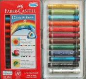 Faber-Castell 12 Oil Pastels - Triangular Grip