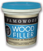 FAMOWOOD Latex Wood Filler - White - 1/4 Pint