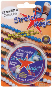 Pepperell 1.8mm Stretch Magic Bead and Jewellery Cord, 3m, Clear