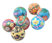100 Colourful Polymer Clay Beads Assorted Colours
